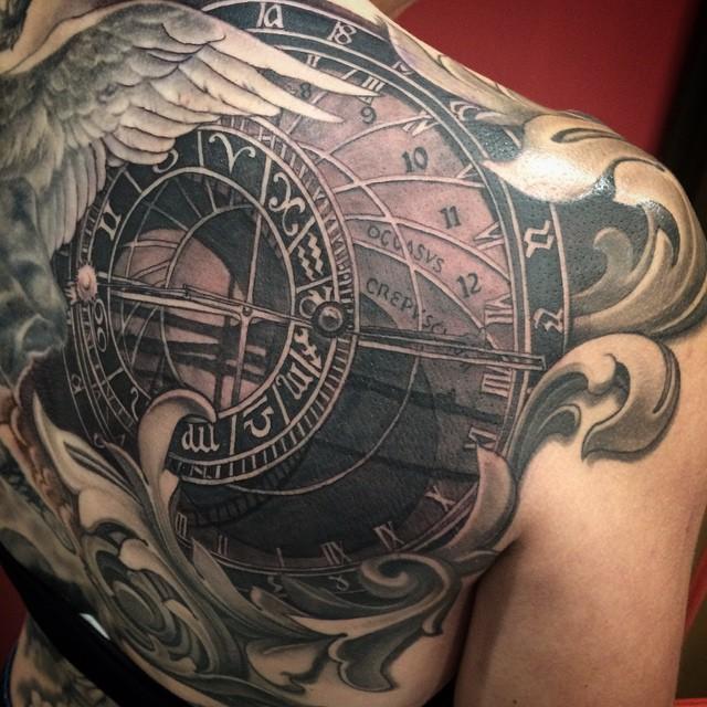 Astronomical Clock Tattoo: Russ Abbott Tattoo- Find The Best Tattoo Artists, Anywhere