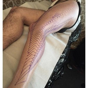 Deciding Position and Placement for Tattoos dotstolines