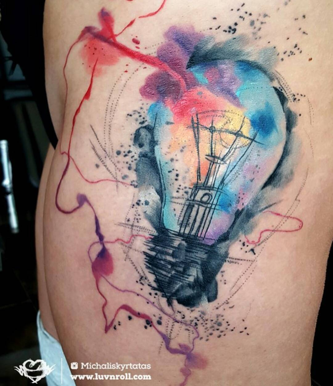 18 incredible watercolour tattoos find the best tattoo artists anywhere in the world. Black Bedroom Furniture Sets. Home Design Ideas