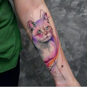 watercolour-tattoos-by-simona.blanar-cat-kitten