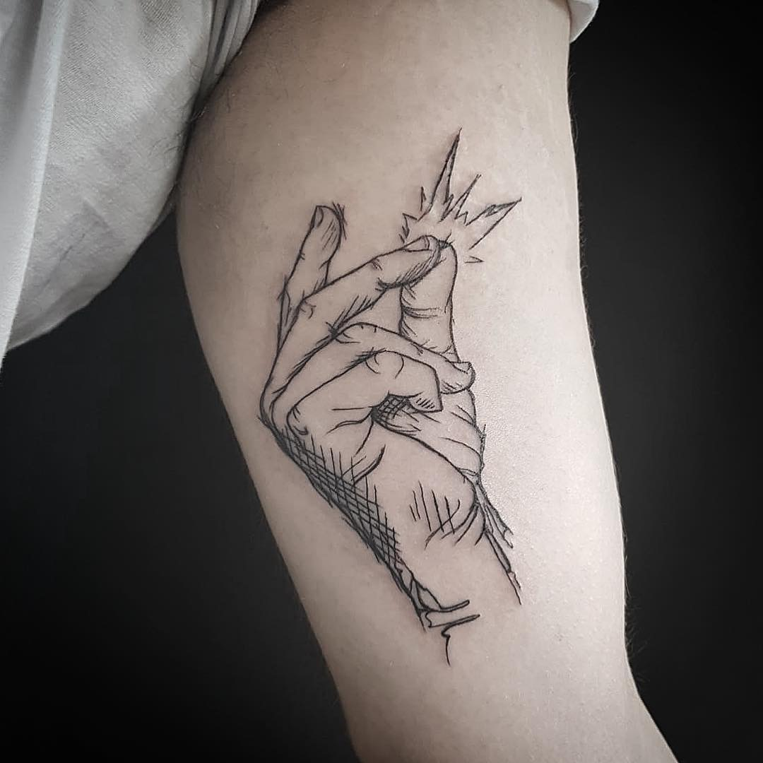 Line work Tattoo by Advance