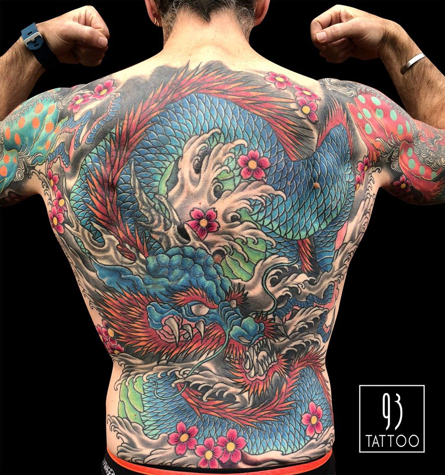 Japanese back piece done by Ree